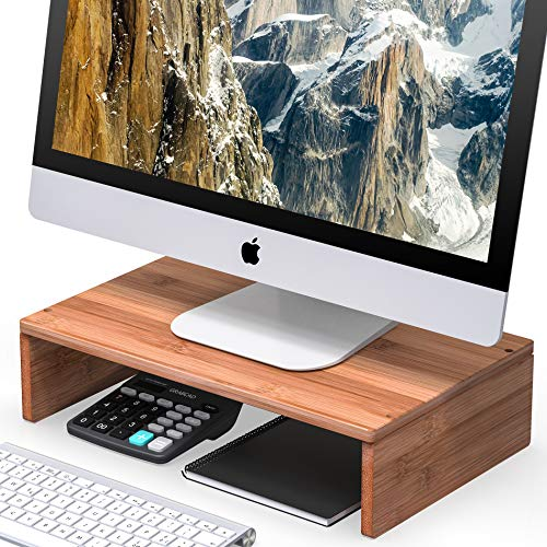 Maple Tv Stand Corner (Well Weng Monitor Riser Stand for Computer Laptop Desk iMac Printer (1PACK))