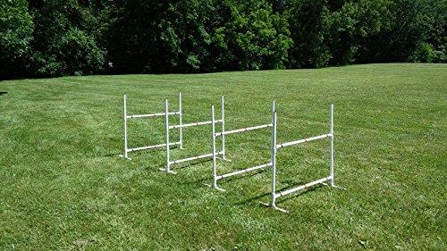 Dog Agility Travel Jump Set | 4 Bar Jumps total by Dog Agility Shop, LLC
