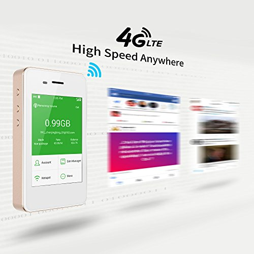 GlocalMe G2 Mobile Hotspot, 4G High Speed Unlimited Data Plan Global WIFI Hotspot, SIM Free No Roaming Charges & Unlocked Internet Access for Travel and Outdoors (Gold) by GlocalMe (Image #3)