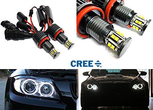 2 faros delanteros LED Cree de á ngel con anillo de halo DRL H8 de 120 W Canbus para E90 E92 E82 E60 E70 E71 E84 RZG