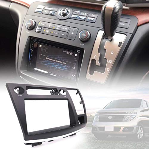 Value.Trade.Inc - 25x8x34.5cm Car Radio Facia Dash Kit Panel Fascia Plate For Nissan Elgrand (E51) 2002-2010 DVD CD Panel Trim Plate Frame Console