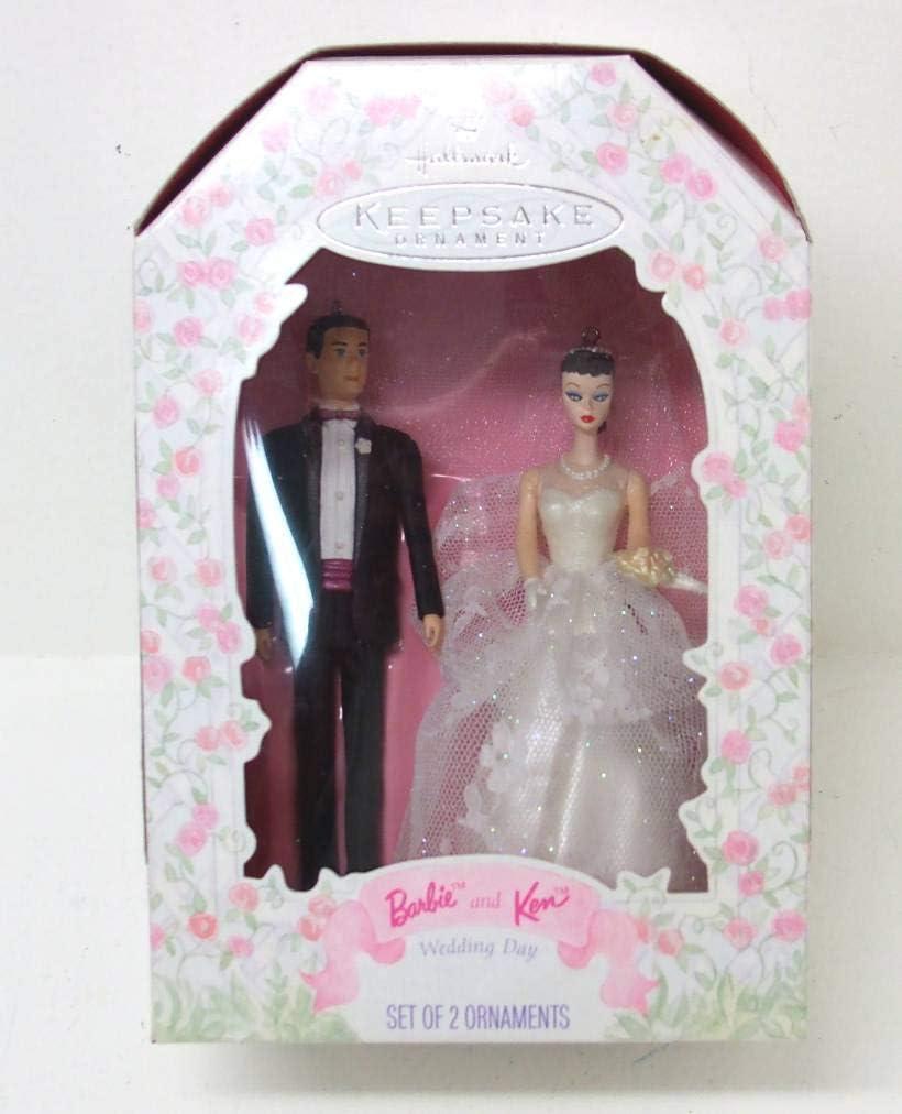 1997 Wedding Day Barbie and Ken Hallmark Ornament