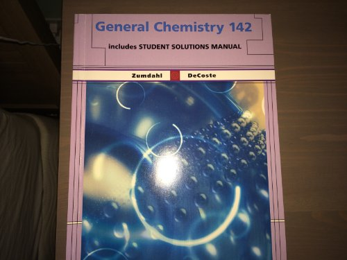 (General Chemistry 142 w/ Student Solutions Manual)