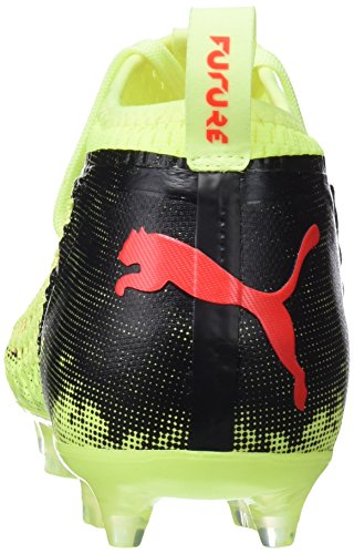 Puma Uomini Futuri Scarpe 18,2 Netfit Fg / Ag Calcio Giallo (giallo-rosso Frizzante Blast-puma Nero 01)