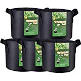 VIVOSUN 5-Pack 7 Gallon Plant Grow Bags, Premium Series Thichkened Non-woven Aeration Fabric Pots w/Handles – Reinforced Weight Capacity & Extremely Durable (Black) Review