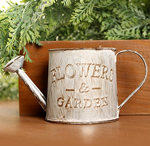 Kettle Planter - Skyseen Tinplate Retro Watering Can Kettle Creative Painted Garden Flower Pot Plant Planter Home Decor