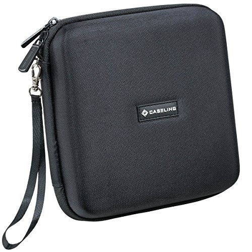Caseling Portable Hard Carrying Travel Storage Case for External USB, DVD, CD, Blu-ray Rewriter / Writer and Optical Drives - Black (Cd Carrying Cases)