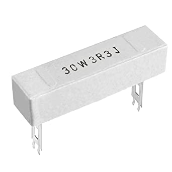 sourcing map 20W 3.3 Ohm Power Resistor Ceramic Cement Resistor Axial Lead White 2pcs