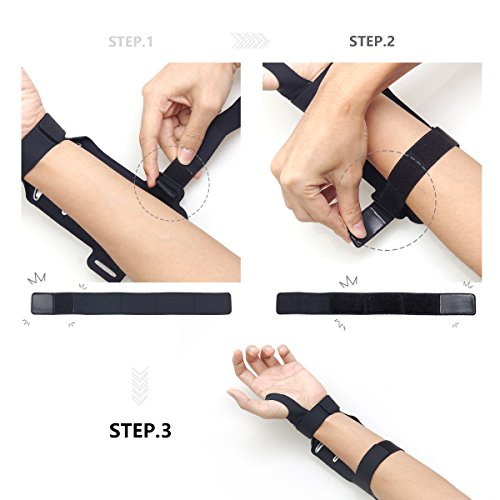 LENTION iPhone 8 / 7 / 6s / 6 Touch Screen Forearm Band, Wristband, Running Armband with Key ID Cash Holder for Cycling, Jogging, Exercise, Sports (for Phones from 4.0''- 5.0'') by LENTION (Image #5)