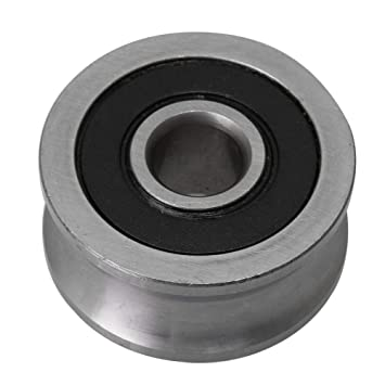 Homeswitch 22mm Dia 8mm Hole Dia Aluminum Alloy Single Step V-Type Pulley for 3-5mm PU Round Belt DIY Drilling Accessory