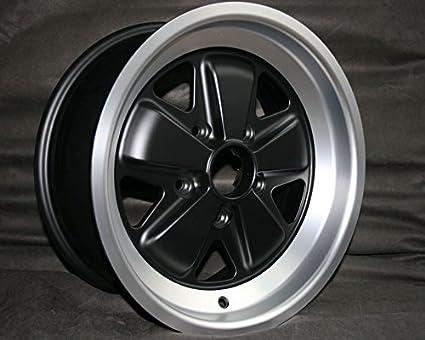 Maxilite wheel fuchs replica 6x15 Black Center Machined rim