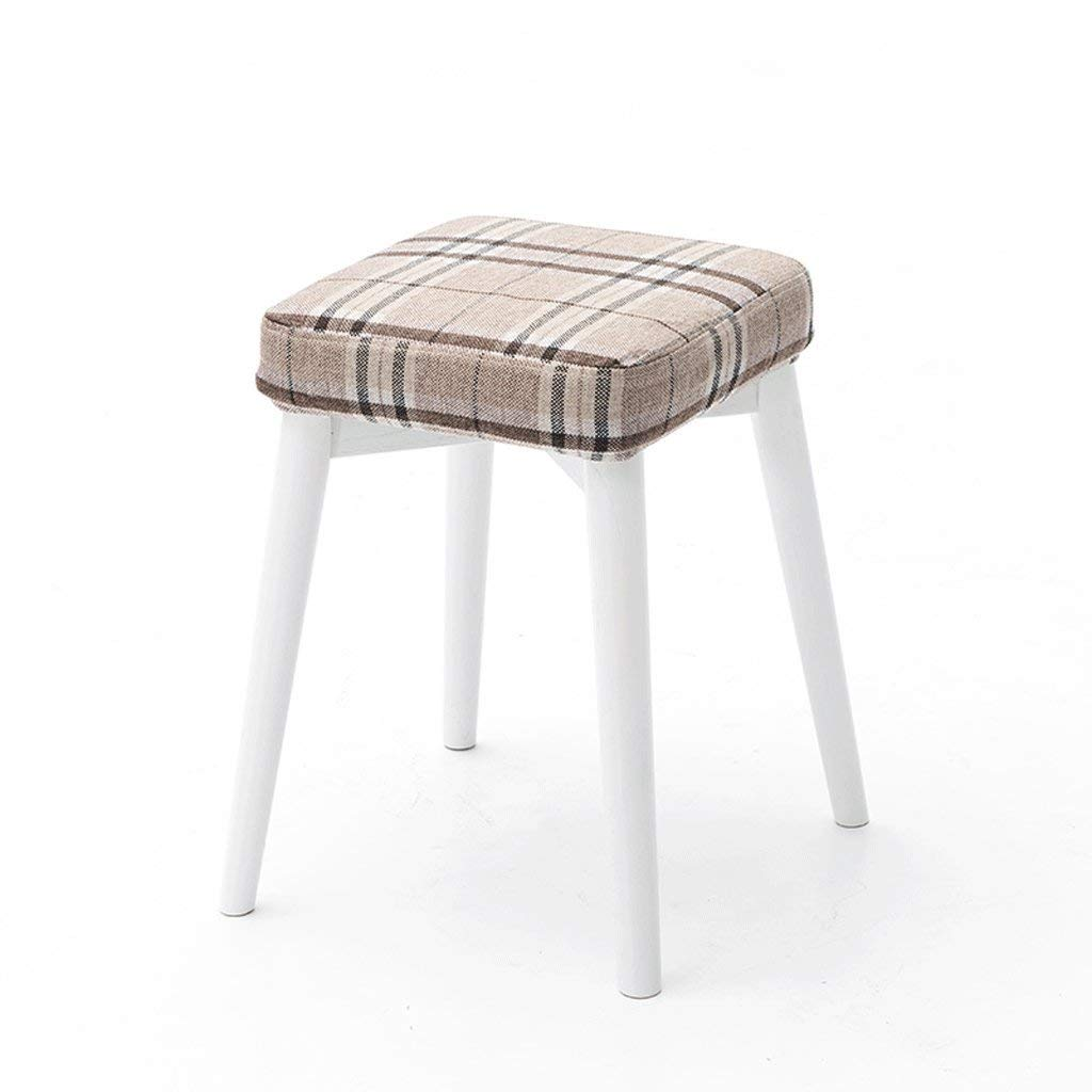 D DYR 46CM Solid Wood Bench Stool Stackable Stool Dressing Stool Small Bench (color  F)
