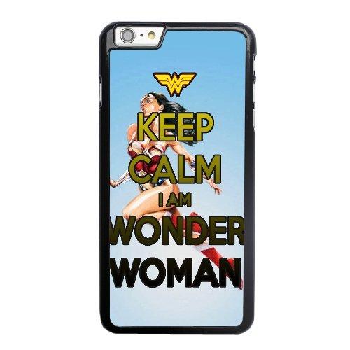 Coque,Apple Coque iphone 6 6S (4.7 pouce) Case Coque, Generic Keep Calm I'M Wonder Woman Cover Case Cover for Coque iphone 6 6S (4.7 pouce) Noir Hard Plastic Phone Case Cover