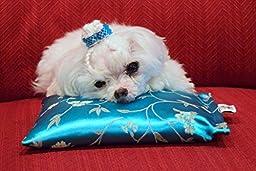Noble Slumber Calming Lavender Aromatherapy Pet Pillow with Oriental Satin Fabric - Magenta