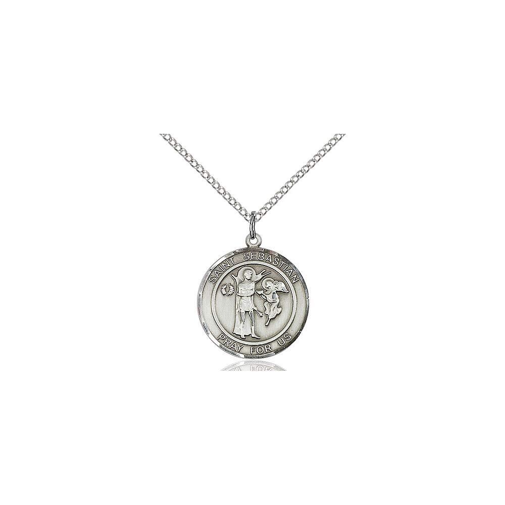 DiamondJewelryNY Sterling Silver Scapular Pendant