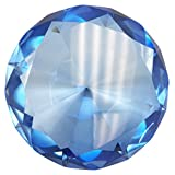 Hongville Fancy Crystal Glass Diamond Paperweight, Blue