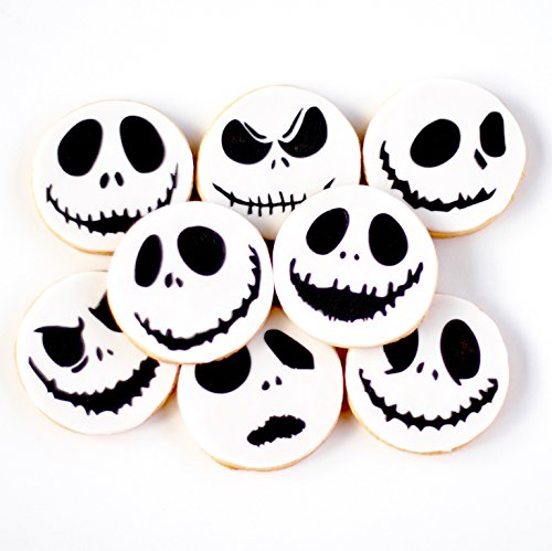 1 Dz. Mini Skellington Face (Jack) Cookies! The MINI Pumpkin King of Halloween Town! Christmas, Holiday, Nightmare Party Favors -