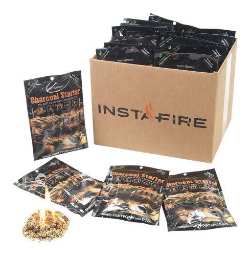 Instafire Charcoal Briquette Fire Starter Pouches For Grills  Smokers  More   Chemical Free  Awarded 2011 Innovative Product Of The Year 30 Pk