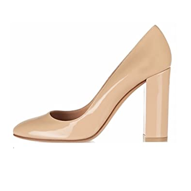 753a61fa3c7d2d EDEFS - Chaussure Mode Escarpin - Talon Hauts Bloc - Bout Rond fermé -  Soirée Mariage