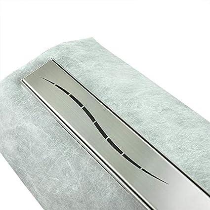 Duschrinne 12x12cm Edelstahl Ablaufrinne Duschablauf Gr/ö/ßen 12-20cm mit Geruchsstop und Haarsieb Befliesbar Bodenablauf Penola//Multi-Muster Auswahl
