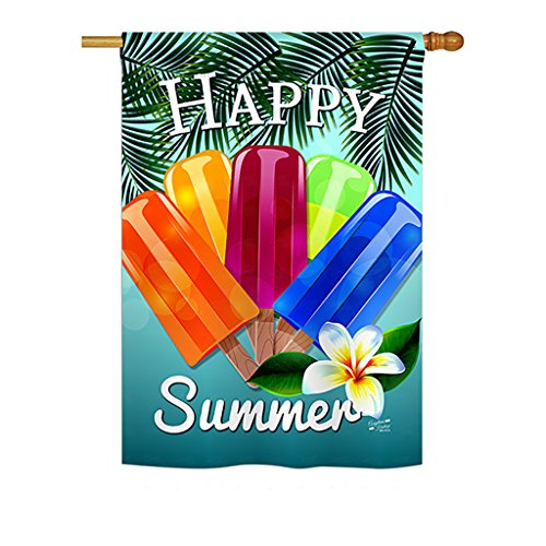 Cheap Angeleno Heritage – Happy Summer Pop Summer – Seasonal Fun in The Sun Impressions Decorative Vertical House Flag 28″ x 40″ Printed in USA