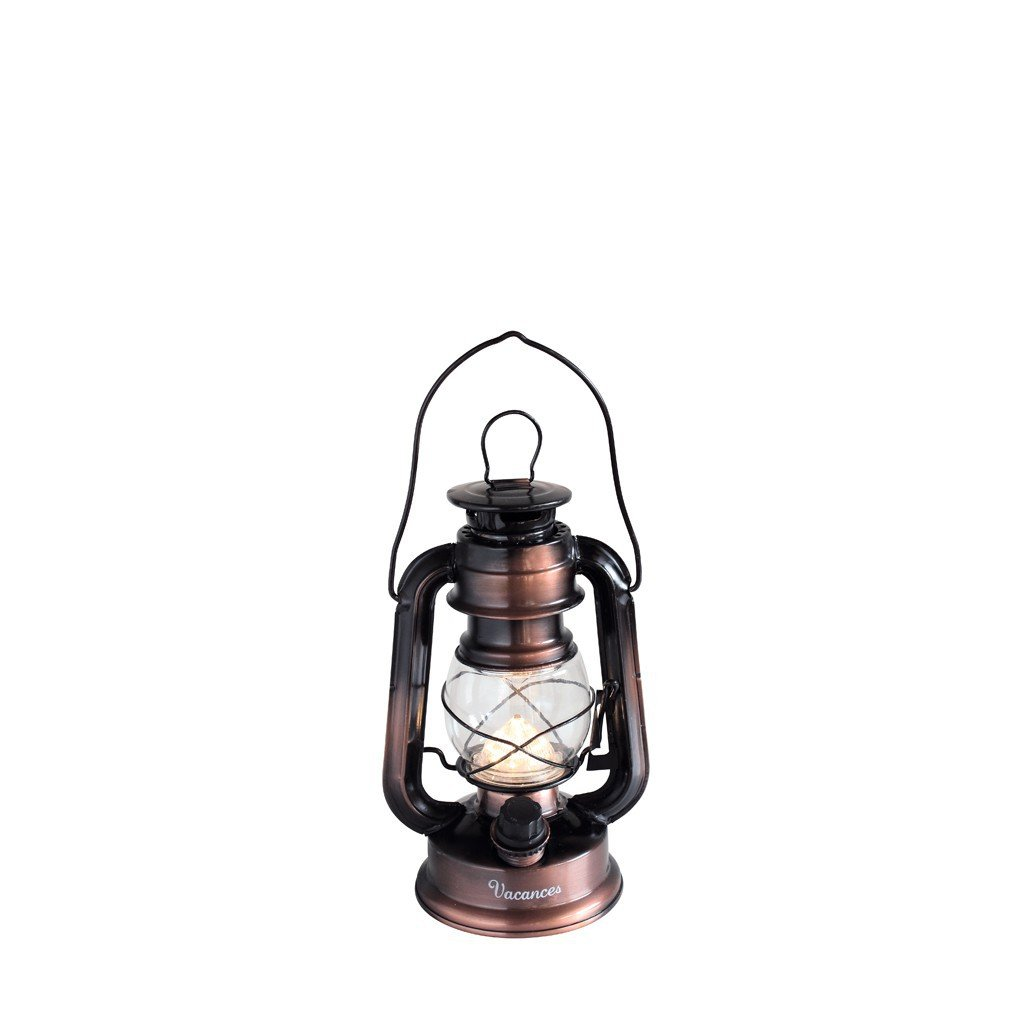 Time Concept Vacances Premium LED Lantern - Battery-Operated, Warm Light - Bronze Lamp