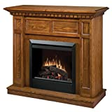 Dimplex Caprice DFP4743O Traditional Electric Fireplace Mantle with 23-Inch Firebox, Oak
