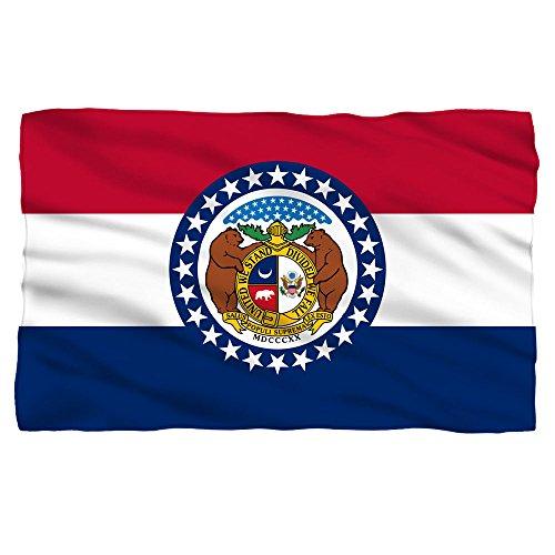 Missouri State Flag -- Fleece Throw Blanket ()