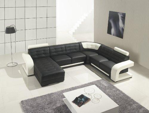 Modern Furniture  VIG  T139   Modern Black And White Leather