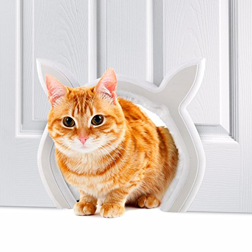 Prouder Pet Interior Cat Door | Fits Most Standard Door Sizes | Safe for Cats up