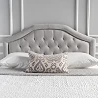 Killian Light Grey Fabric Queen/Full Headboard by Christopher Knight Home