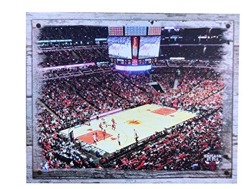 Artissimo Designs Plank Sports Stadium and Arenas Canvas Artwork (Chicago - Stadium Chicago Bulls