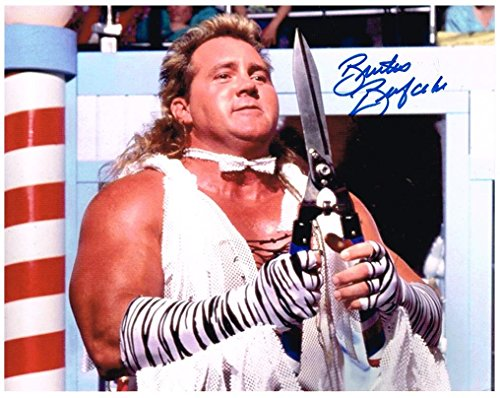 WWE WWF BRUTUS THE BARBER BEEFCAKE AUTOGRAPH AUTOGRAPHED SIGNED 8X10 PHOTO (Autographed Barber Photo)