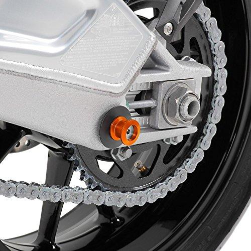 Racingadapter f/ür KTM 690 Duke Motea Mugello M10 x 1.5 orange