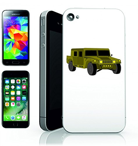 Smartphone Case veicolo di auto Hummer esercito della jeep di automobil-Stati Uniti America per Apple Iphone 4/4S, 5/5S, 5C, 6/6S, 7& Samsung Galaxy S4, S5, S6, S6Edge, S7, S7Edge Huawei HTC–D