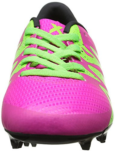 adidas X 15.3 FG/AG, Botas de Fútbol para Niños Rosa (Shock Pink S16/Solar Green/Core BlackShock Pink S16/Solar Green/Core Black)