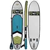 ISLE 10'6' Pioneer | Inflatable Stand Up Paddle Board | 6' Thick iSUP and Bundle Accessory Pack | Durable and Lightweight | Stable Wide Stance | Up to 240 lbs Capacity (Blue - 2017, 10'6)