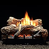 Thermostat 5-piece 24 inch Ceramic Fiber Log Set - Natural Gas