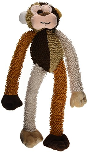 Multipet International DMP37812 Multicrew Monkey Plush Dog Toy, 17-Inch, Colors Vary (Dog Toys Monkey)