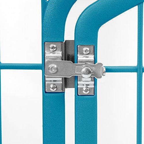 IRIS Exercise 8 Panel Pen Panel Pet Playpen with Door - 34 Inch, Blue Moon by IRIS USA, Inc. (Image #3)