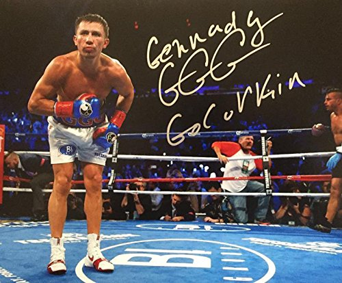 Gennady  Ggg  Golovkin   Boxer   Signed 8X10 Photograph Mint With Coa   Proof Picture
