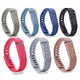 ismile Newest Replacement Bands with Metal Clasps for Fitbit Flex /...