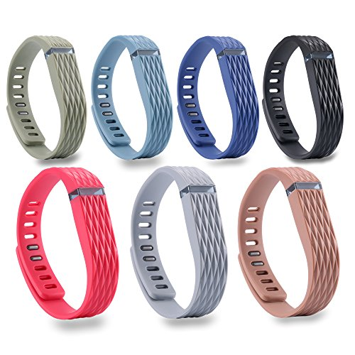 I SMILE 15PCS Replacement Bands with Metal Clasps for Fitbit Flex/Wireless Activity Bracelet Sport Wristband(No tracker, Replacement Bands Only)