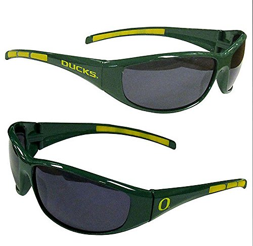 NCAA 3-Dot Wrap Sunglasses-UVA and UVB Protection-Many Teams! (Oregon - Oregon Uva