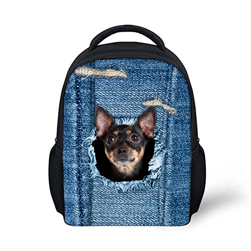 Sannovo Funny Blue Miniature Pinscher School Bag for Kindergarten Toddler Baby Pre-k ()