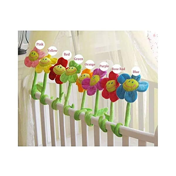 SUSHAFEN 16Pcs Artificial Plush Sunflower Daisy Flower Toy Bendable Curtain Buckle Tiebacks Birthday Wedding Party Gift Decor Fairy Wands Stick Performance Props Novelty School Prize Gifts