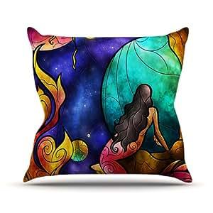 """KESS inhouse mm3021aop0318x 45,7""""de Mandie Manzano Creo"""" Cojín Manta de exterior, multicolor"""