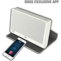 DOSS Cloud Book Wireless Portable Bluetooth 4.0 & Wi-Fi Straming Music speaker,support Pandora,Spotify,iHeart,Tuneln,Multi-room play,Built-in rechargeable battery,handsfree,12 hours play[Color:Gray]
