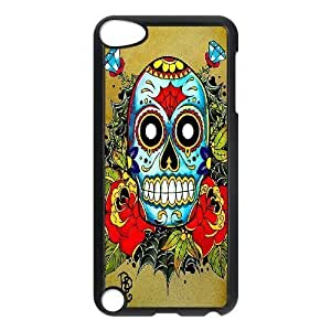 LZHCASE Design Phone Case Sugar Skull For Ipod Touch 5 [Pattern-1]