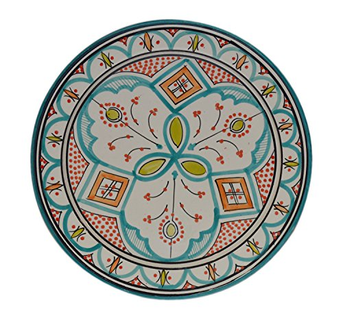 Ceramic Plates Moroccan Safi Serving Plate Large 12 Inches Round